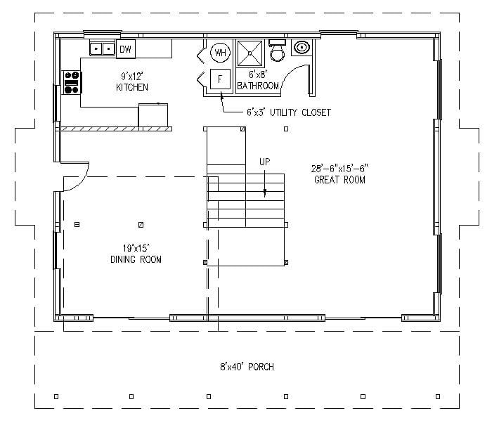 Kickass 30x40 Metal Building Home W Spacious Interior Hq Plan 8 Pictures Metal Building Homes Over 300 block house & cottage plans with basement floor and terrace, plus construction cost estimate. kickass 30x40 metal building home w