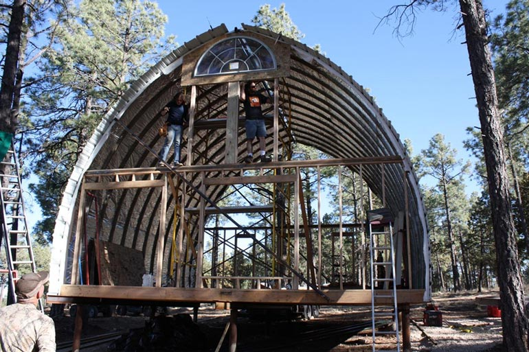24 X 32 Arched Metal Cabin Kit From 10 000 18 Hq