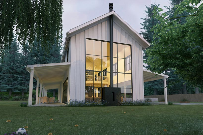 Awesome Modern Look Metal Farmhouse (HQ Plans & Pictures)