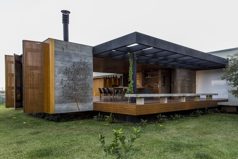 The MCNY House With A Folding Wood Facade And Interior Garden