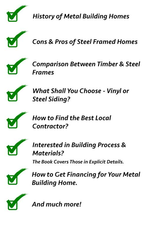 Metal Building Homes Guide (54-pages) | All Questions ... Steel Frame Homes Near Me